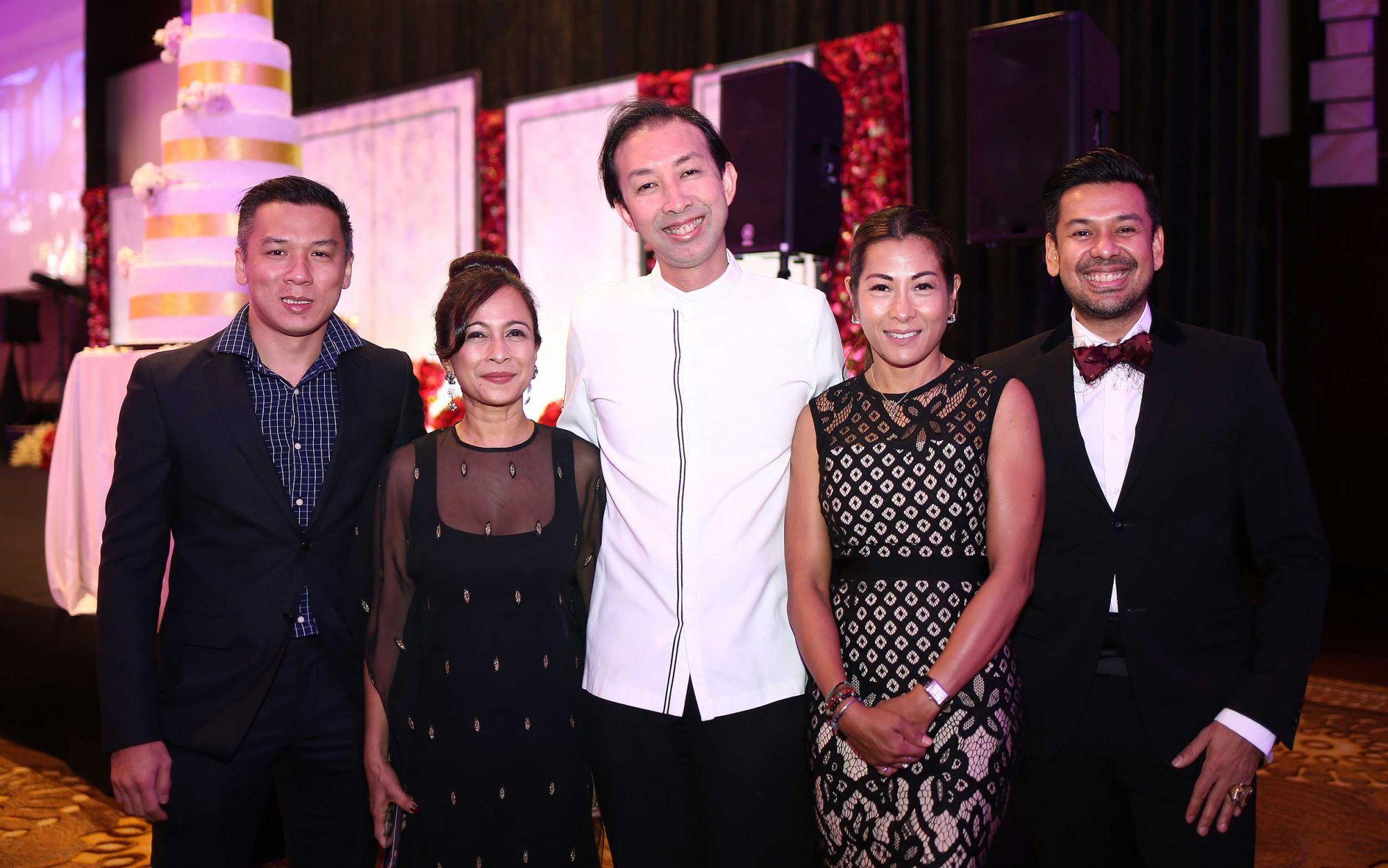 Jacky Lai, Tina Fazlita Fadzil, Mario Mahmood, Hayati Jamil and Syed Wafa