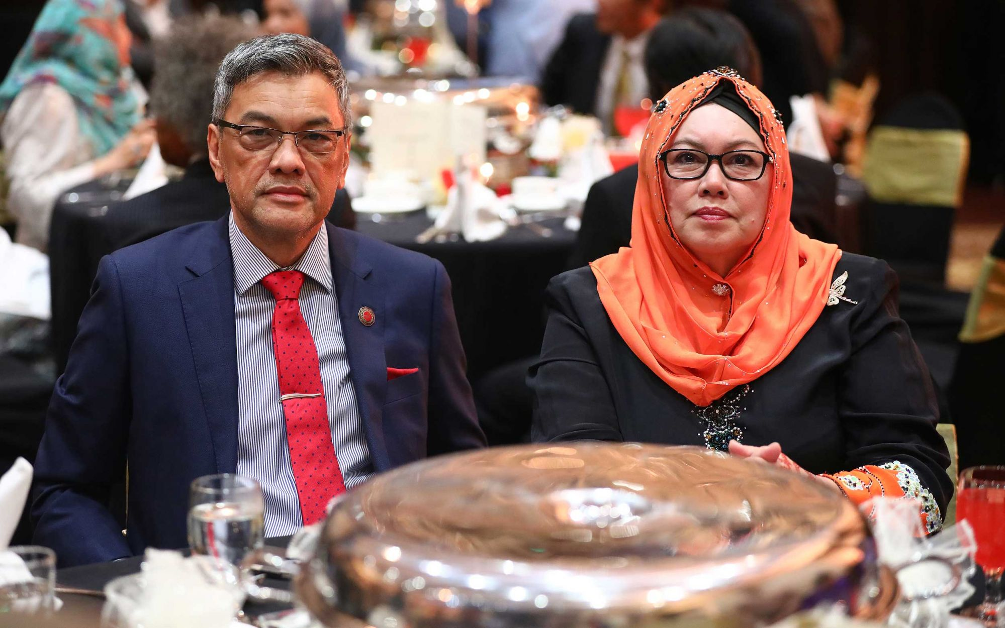 Tengku Seri Paduka Esfandiari and To' Puan Datin Siti Rahilah