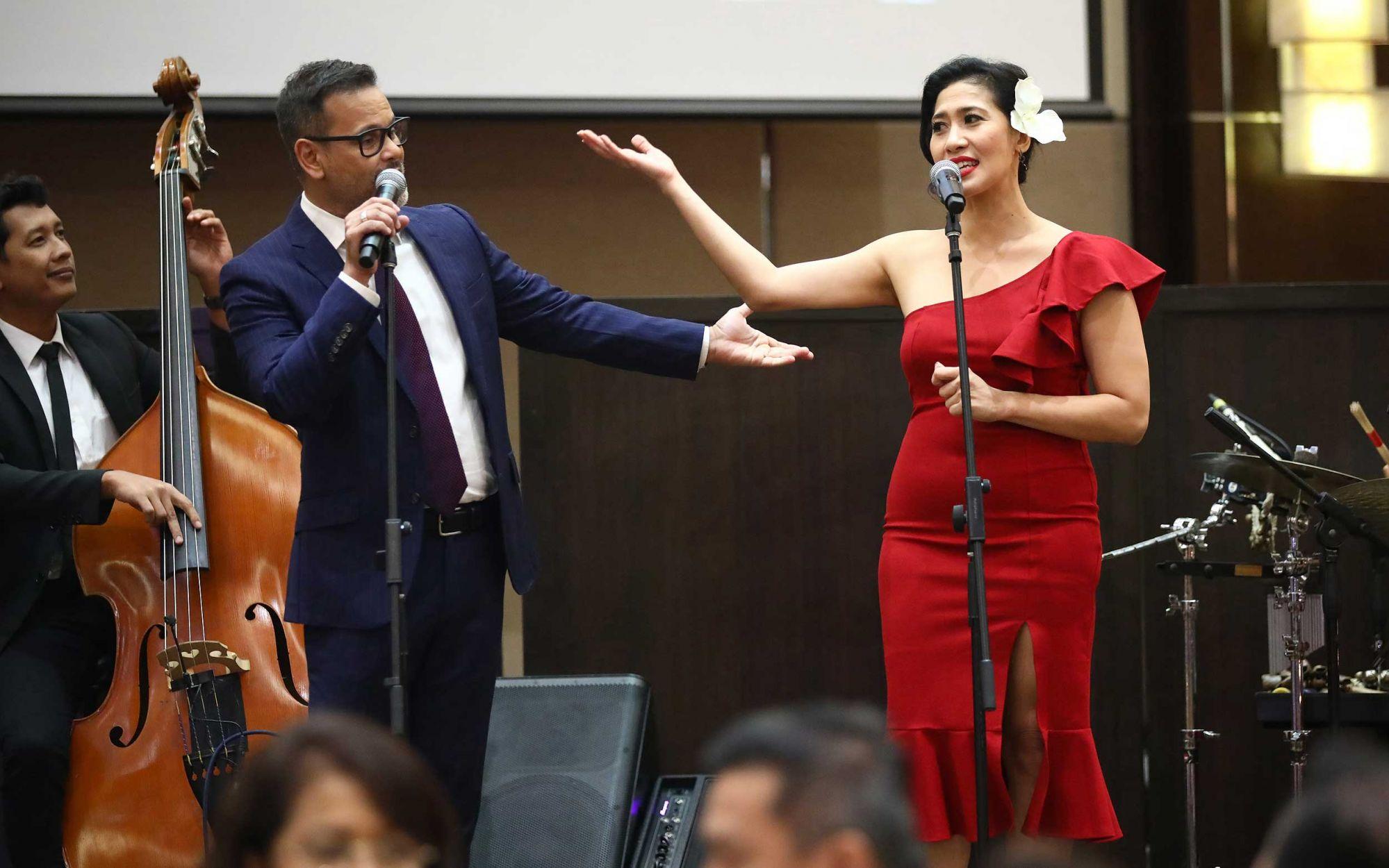 Sean Ghazi and Ida Mariana