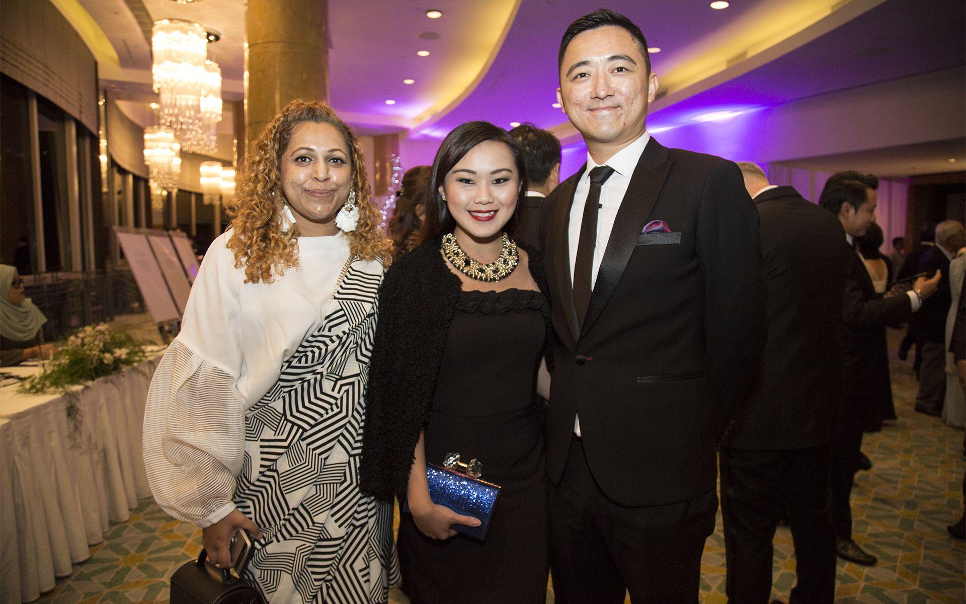 Bavani Veeriah, Adeline Choong and Charlie Choong