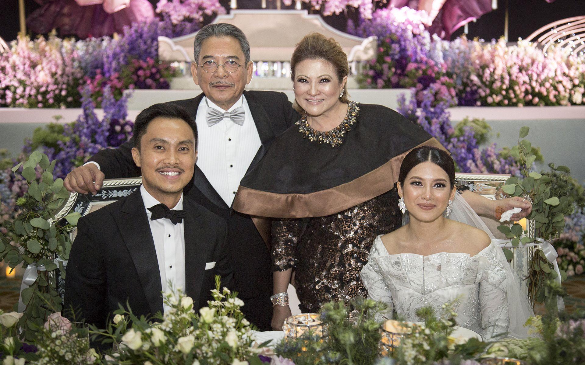 Datuk Wan Fusil Wan Mahmood, Datin Jude Khadijah, Arfiz Ghaus and Tasha Fusil
