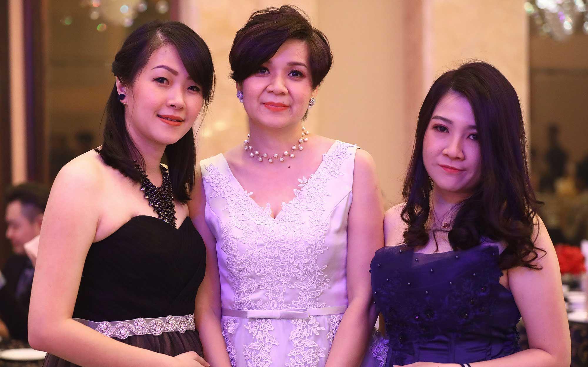 Karen Pang, Evon Leong and Rachael Then