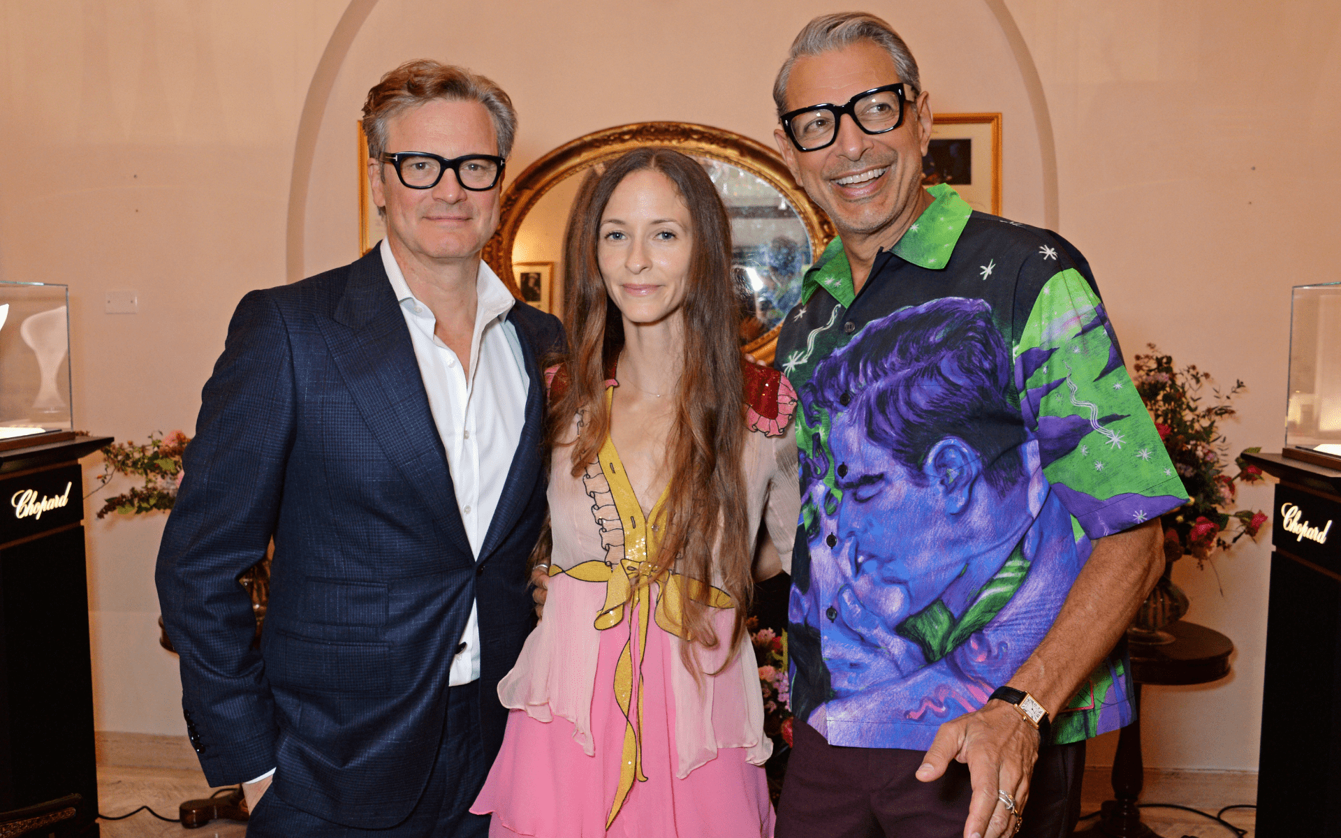 Colin Firth, Emilie Livingstone and Jeff Goldblum