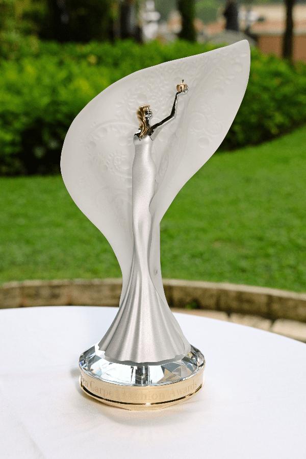 The Vanguard Award trophy