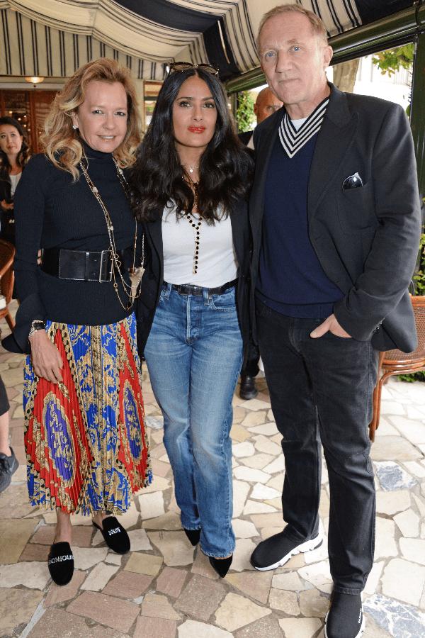 Caroline Scheufele, Salma Hayek and Franáois-Henri Pinault