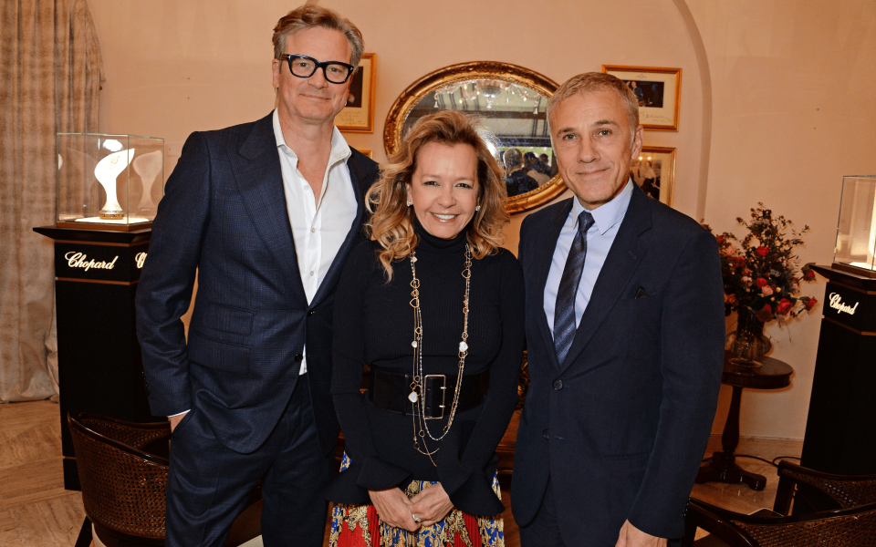 Colin Firth, Caroline Scheufele and Christoph Waltz