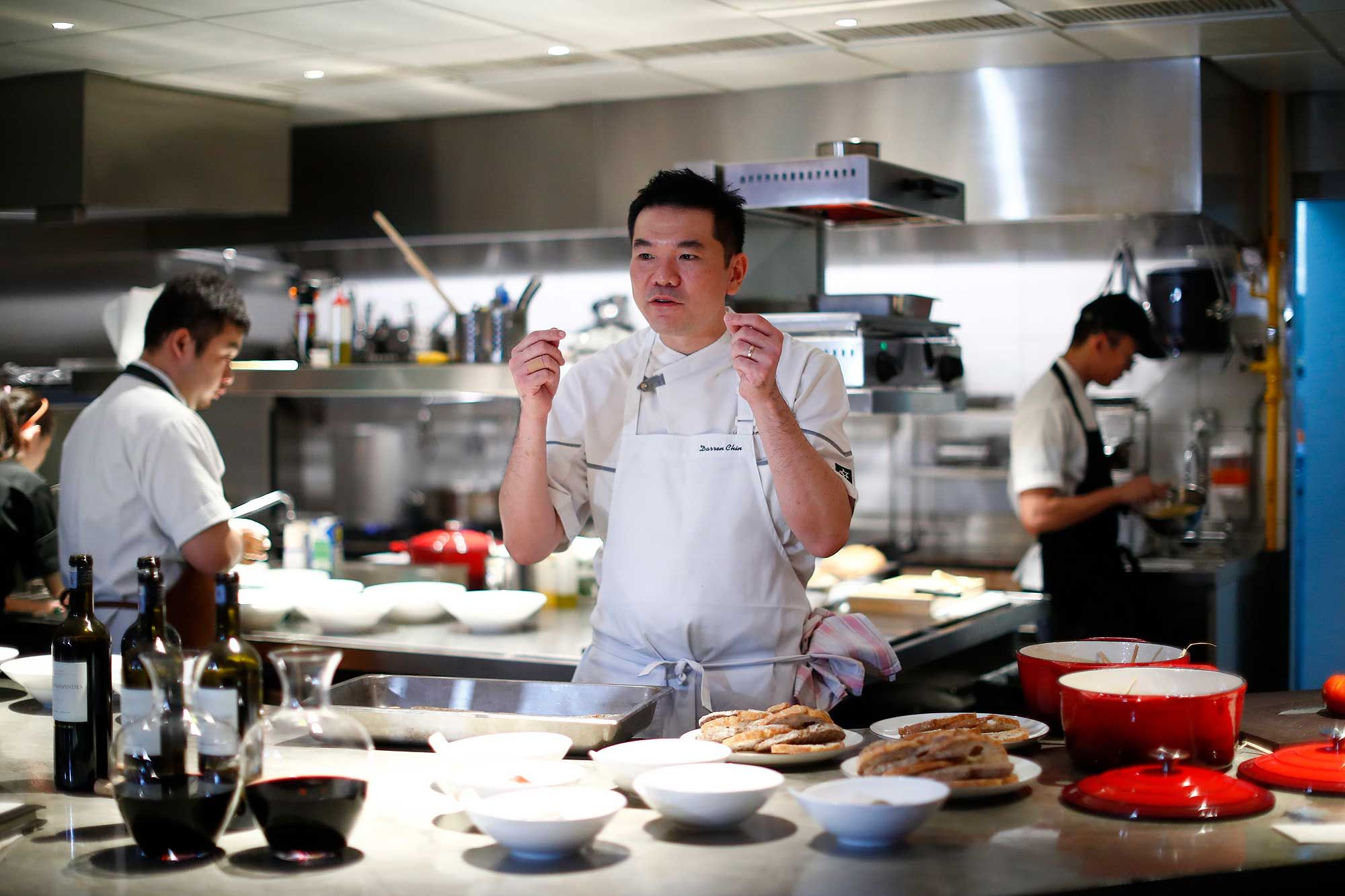 Darren Chin, chef-patron of Bref. Photo: Courtesy of Moet Hennessy Diageo.