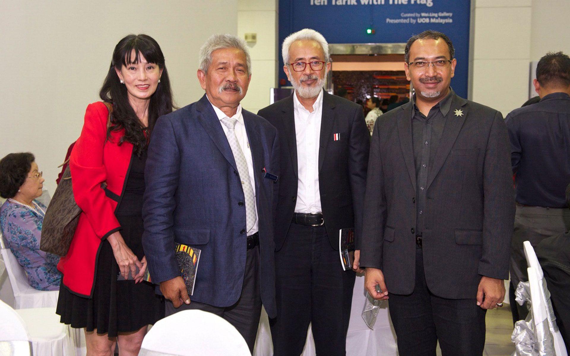 Datuk Tan Pei-Ing, Prof Dato' Dr Mohamed Najib Ahmed Dewa, Raja Kamarul Bahrin and Ezumi Harzani