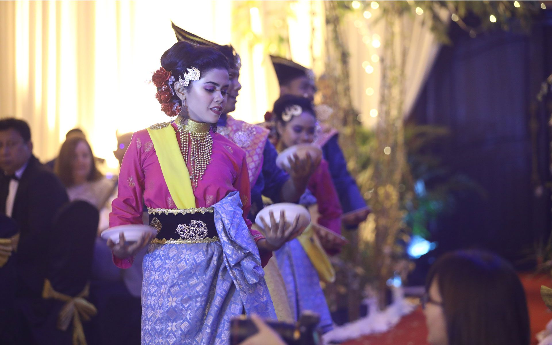 Traditional dance performances for the evening