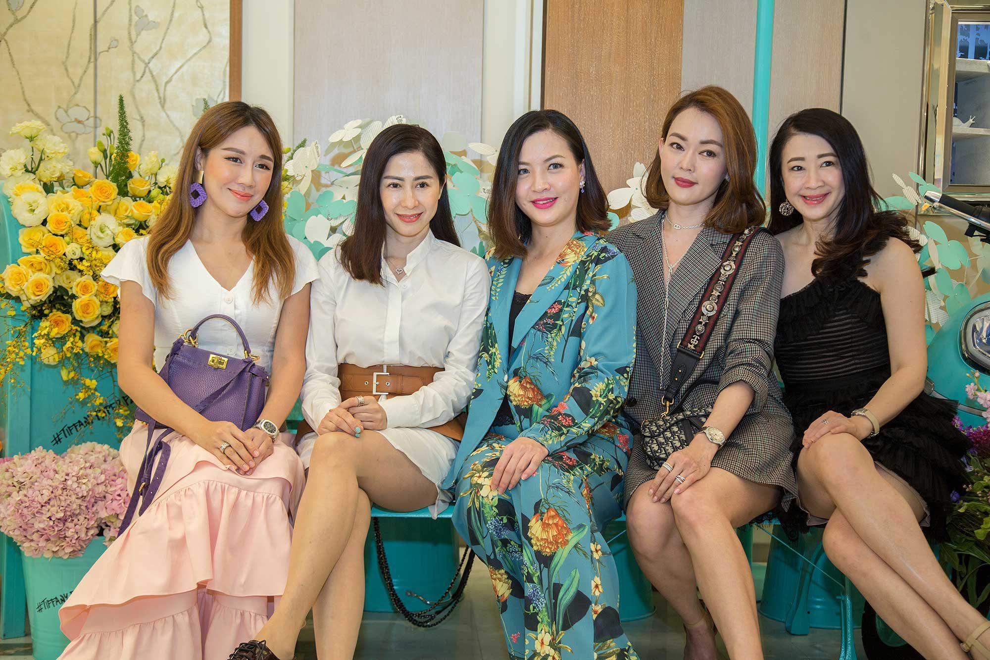 Olivia Lau, Datin Kim Isabelle, Cherrie Chin, Elaine Chan and Christine Cheah