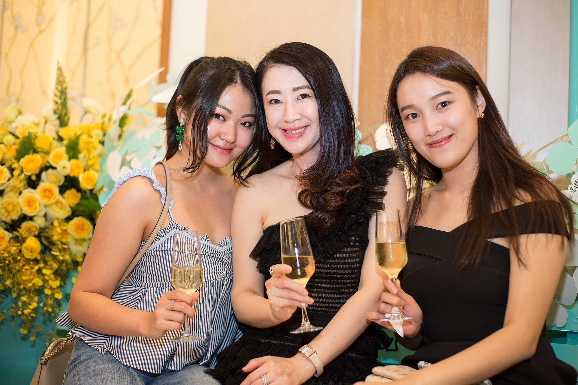 Denise Chew, Christine Cheah and Maggie Ng