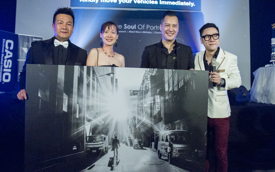 Jack Lee, Veronica Ong, Albert Nico and Jeff Chee during the auction