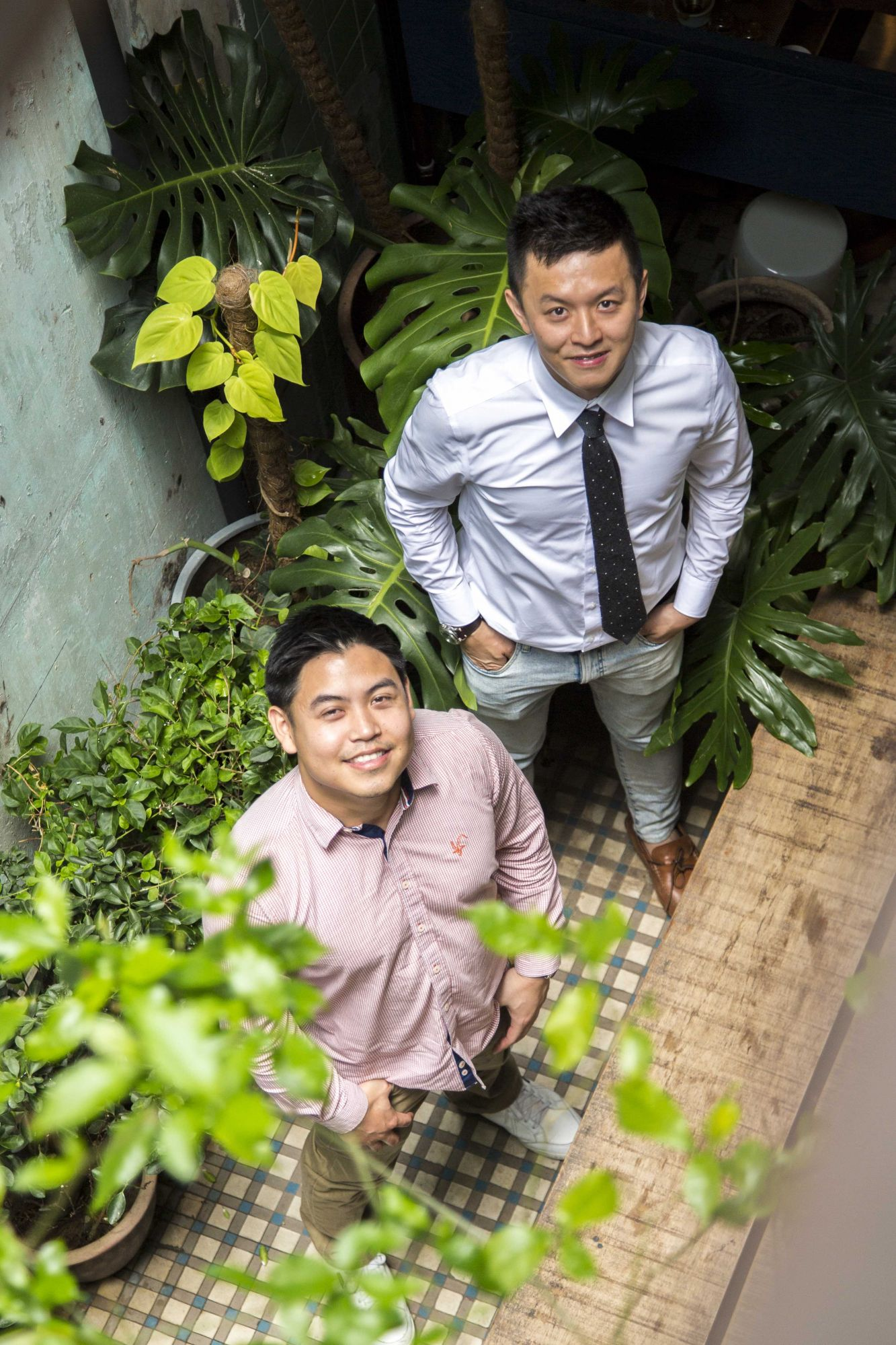 Ting Guo Yi and Tan Meng How, respectively Executive and General Manager of Straits Wine Co. Photo: Khairul Imran / Malaysia Tatler