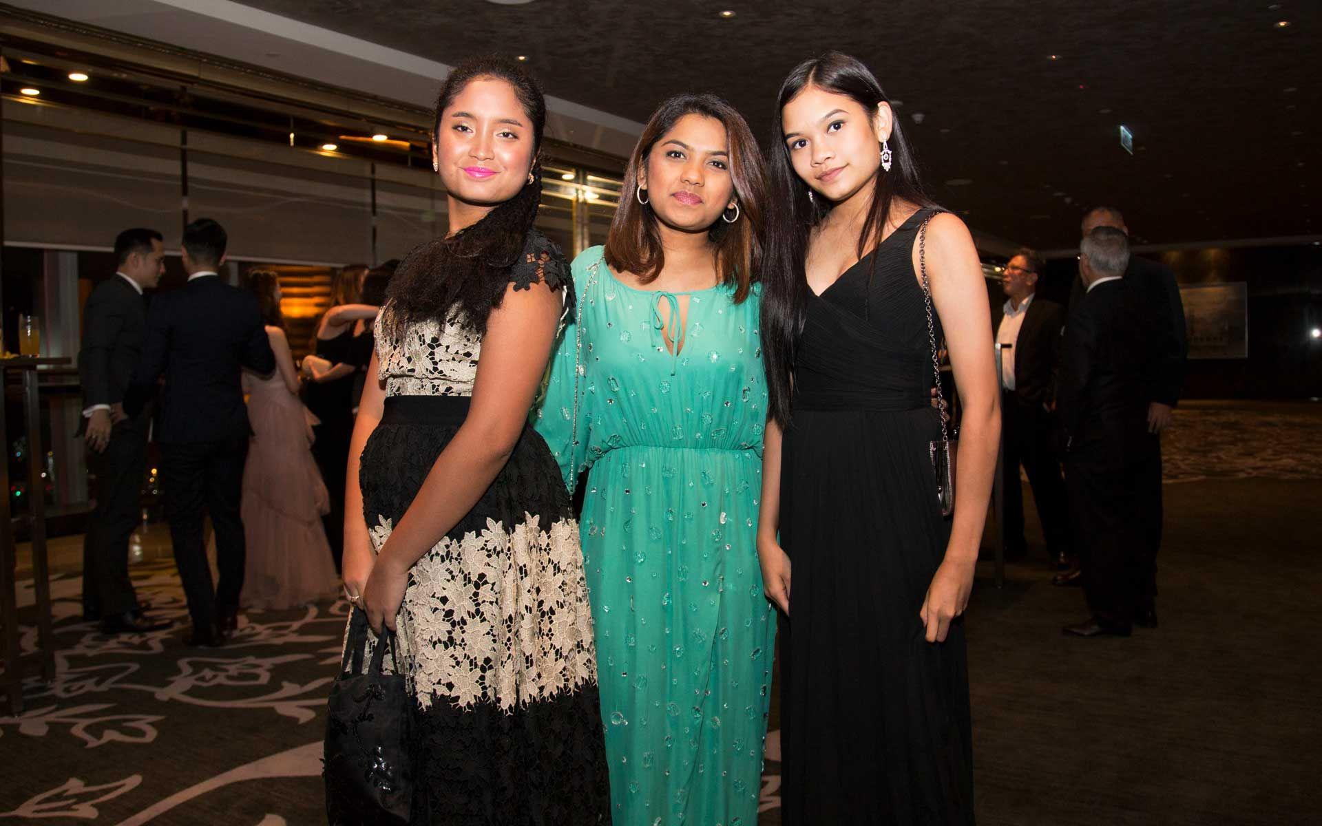 Aissa Sufian, Amelia Zulfitri and Myra Zulfitri