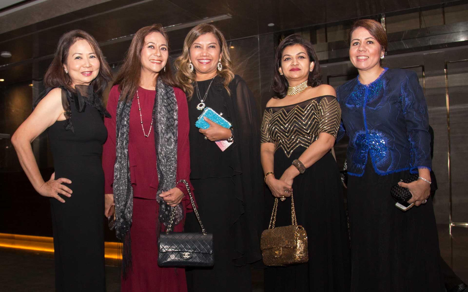 Noni Nordin, Dato' Zaha Rina Zahari, Datin Alissa Fitri, Datin Usha Nair and Datin Lisa Mokhlis