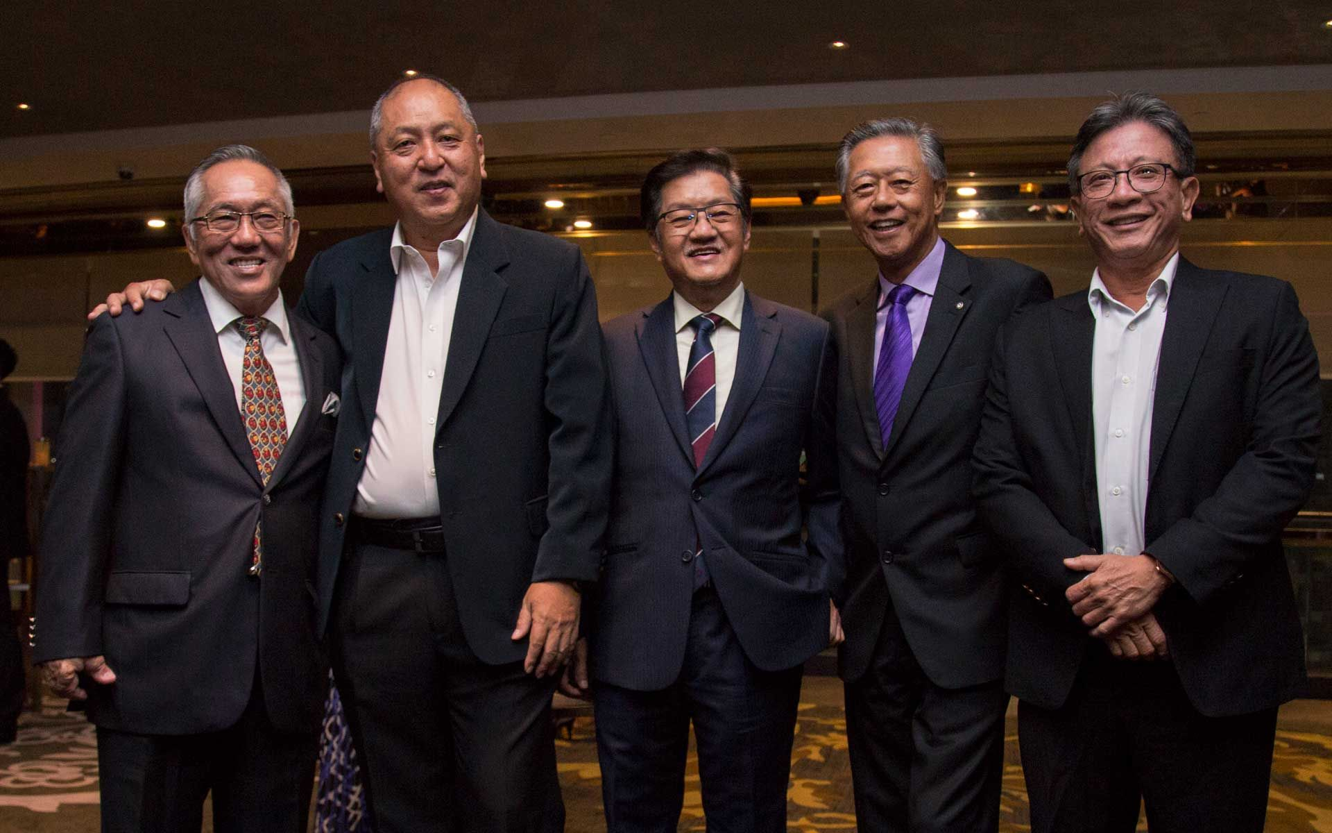 Dato' Sri Yap Teiong Choon, Dato' Kevin Yong, Ivan Tan, Frank Lim and Dato' Dr Steven Tock