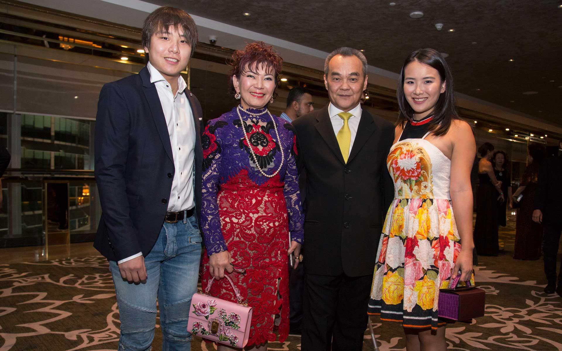 Daryl Ong, Datin Kate Ong, Dato' Eric Ong and Natalie Ong