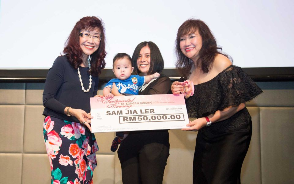 Florence Fang and Dato' Rosemarie with little Sam Jia Ler