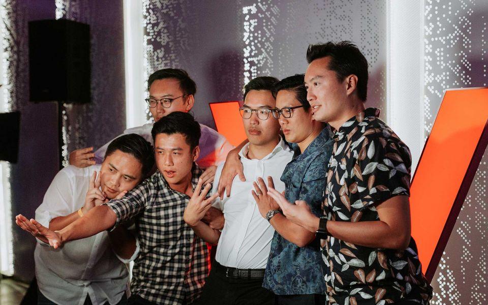 Brian Choo, Yeen Yeoh, Joshua Yeoh, Yuan Yeoh, David Thjung and Hann Yeoh