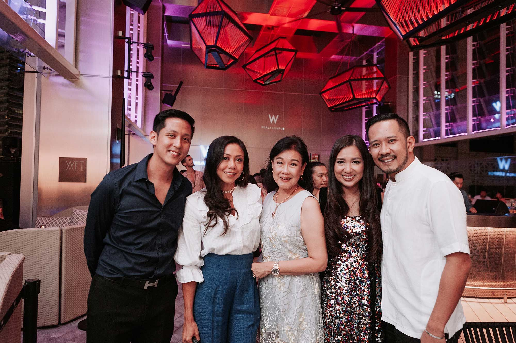 Jared Ang, Datin Sabrena Dani, Puan Sri Ivy Tan, Datin Yvette Kang and Datuk Wira Dani