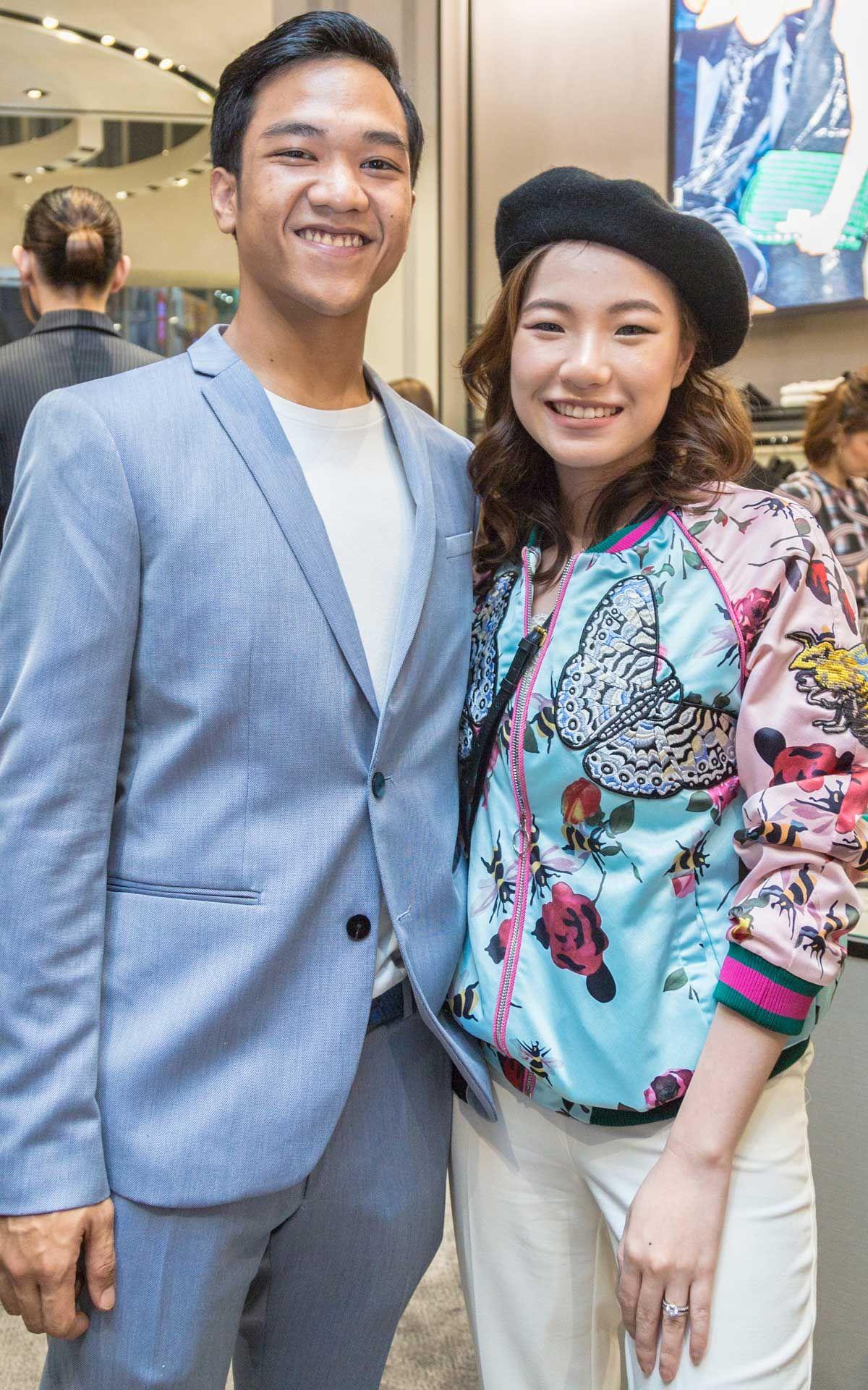 Rizrin Shah and Pearl Tan