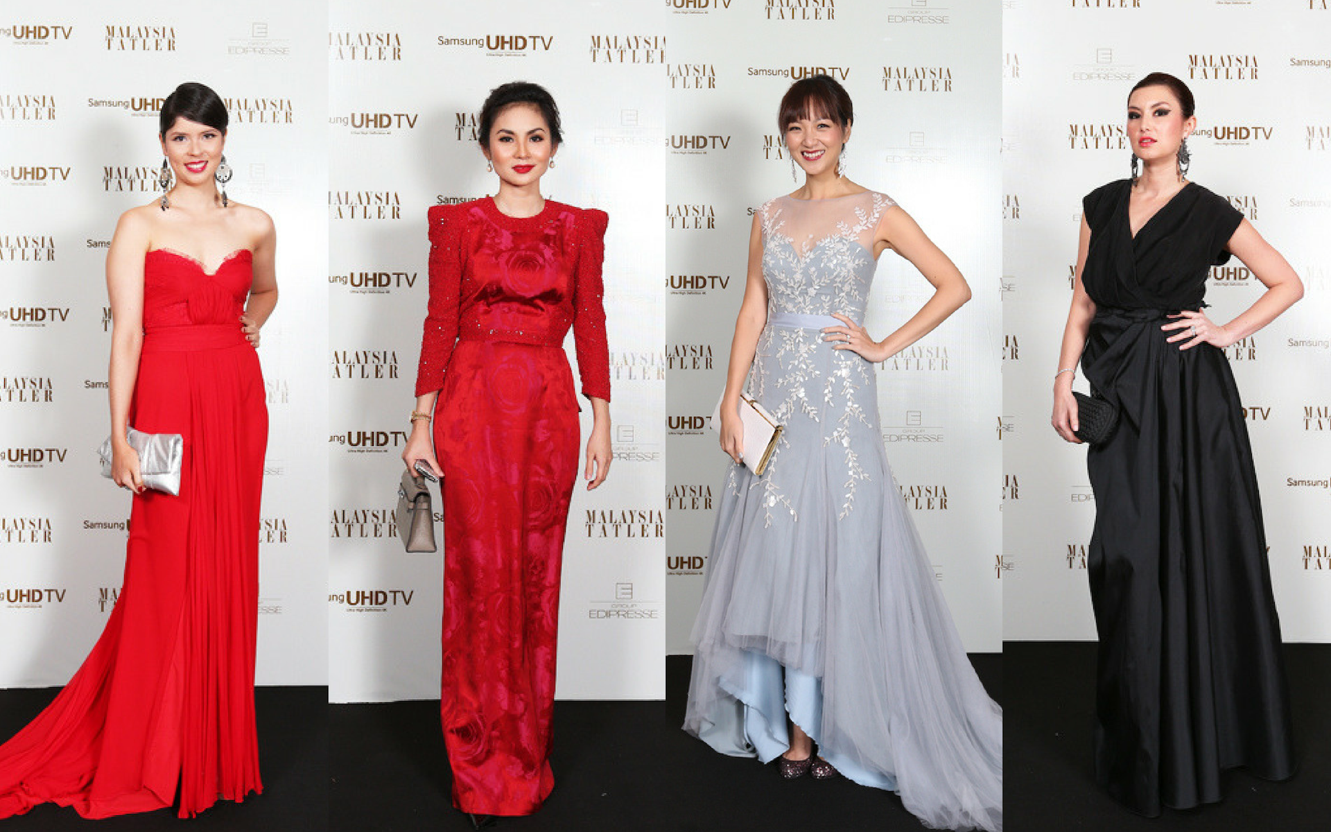 Yong Mei Ling in Jonathan Cheng, Datin Esmila Saruji in Innai Red, Gabrielle Tan-Helfman in Celest Thoi and Danielle Graham in Khoon Hooi