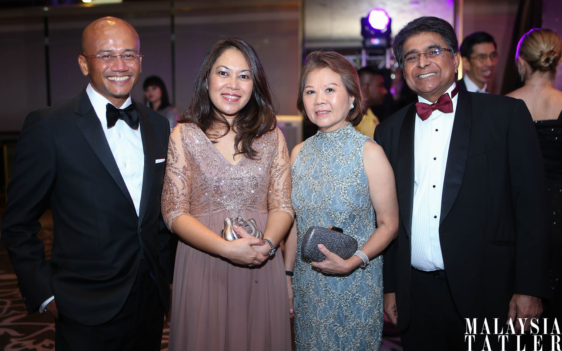 Azran Osman Rani, Azreen Pharmy, Datin Sri Joyce Raymond and Dato' Sri Jeffrey Raymond