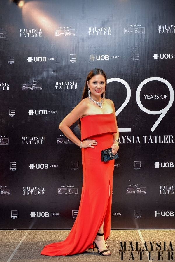 Datin Yvette Kang in Alex Perry
