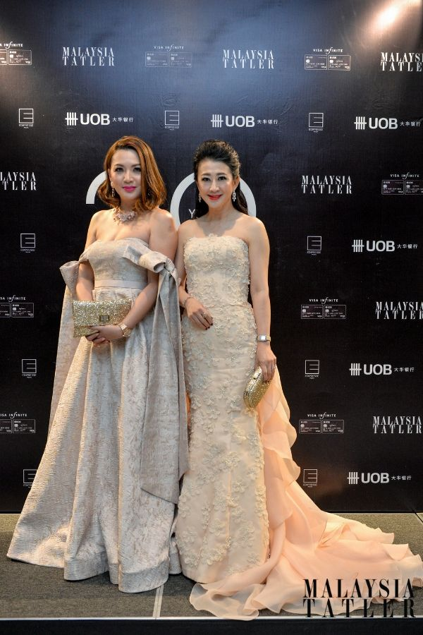 Cherrie Chin in Celest Thoi and Christine Cheah in Carven Ong
