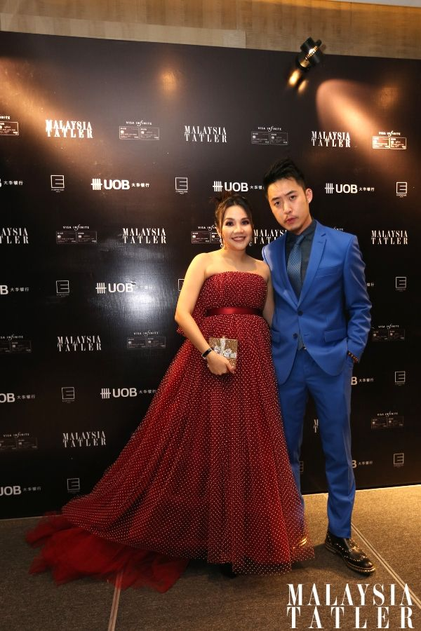 Sally Quah in Brian Khoo and Bryan Loo wears Audemars Piguet watch