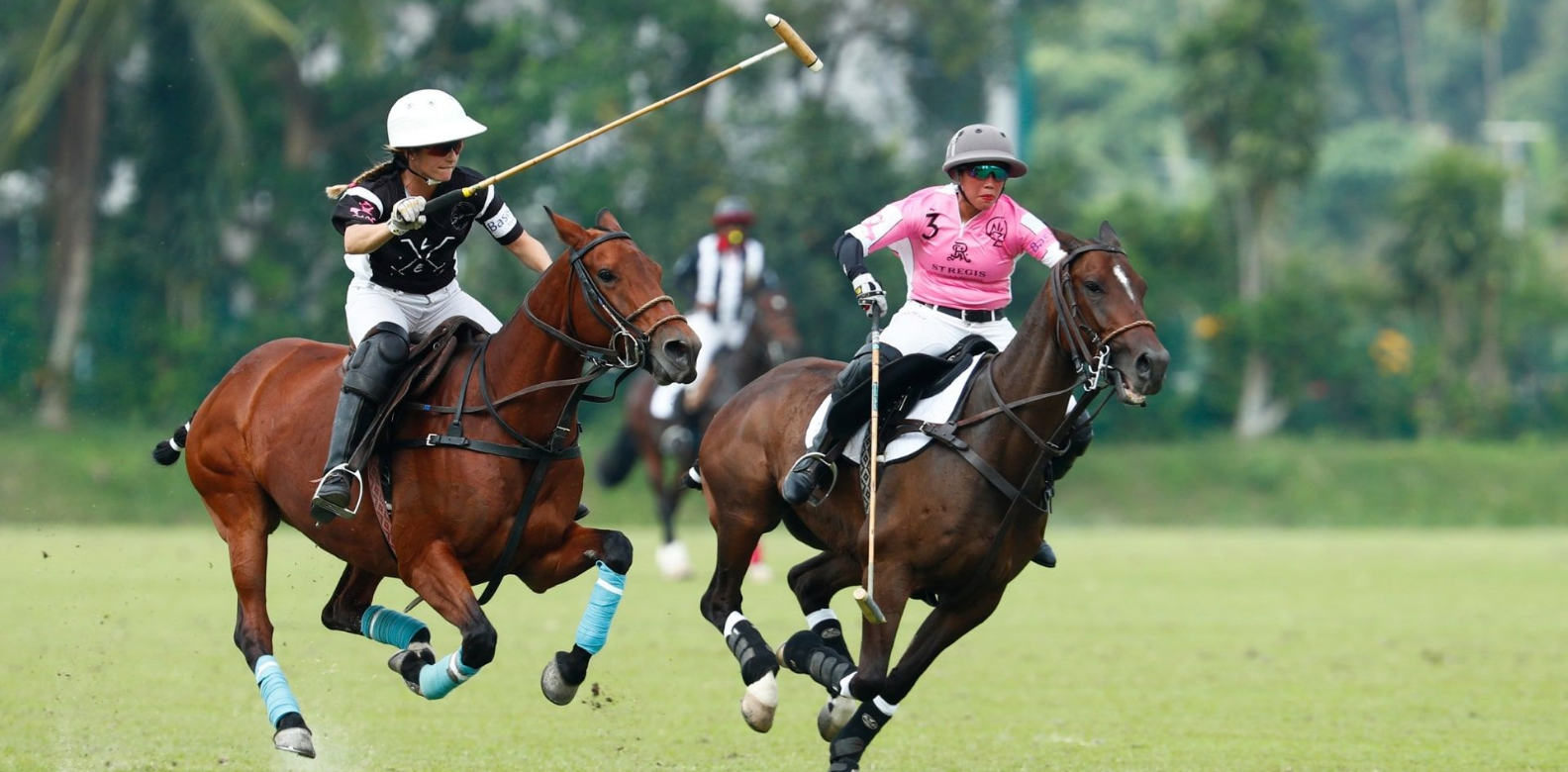 Lia Salvo of Le Tu Polo Team vs Princess Azemah Ni'matul Bolkiah of The St Regis Polo Team