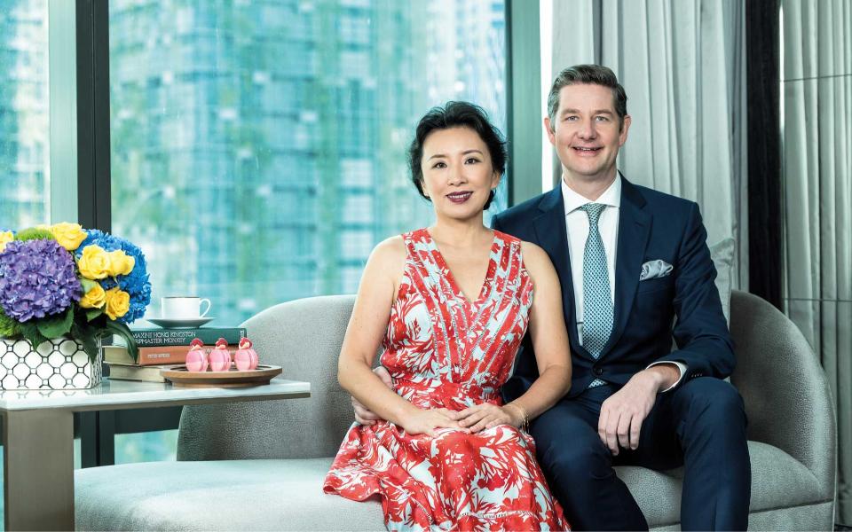 Sara and Tom Roelens at the Four Seasons Hotel and Residences Kuala Lumpur. Photo: Chris Jung/Malaysia Tatler