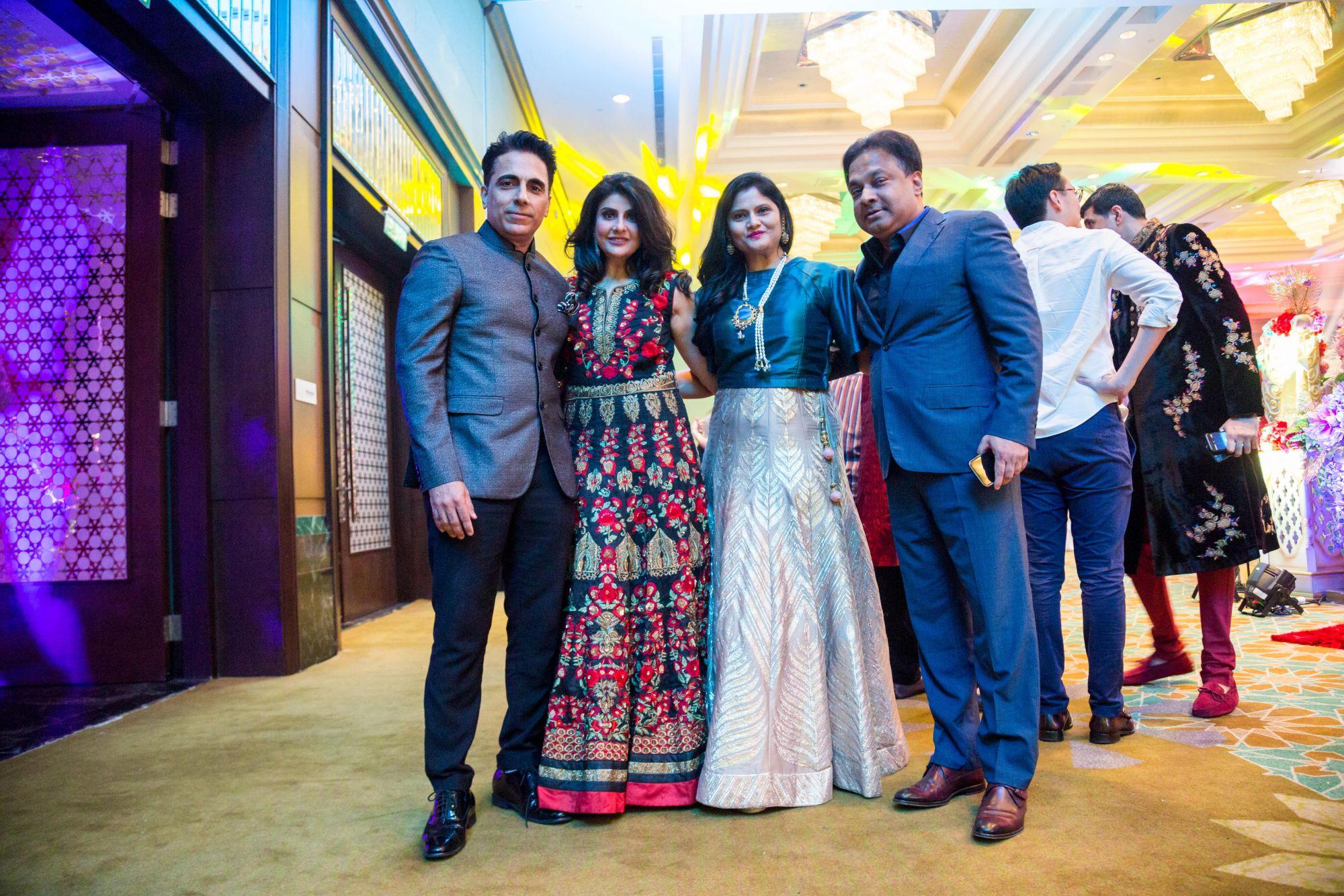 Dato' Ajay and Datin Kaysha Ubrani, and Vimi and Ashwin Rajgopal