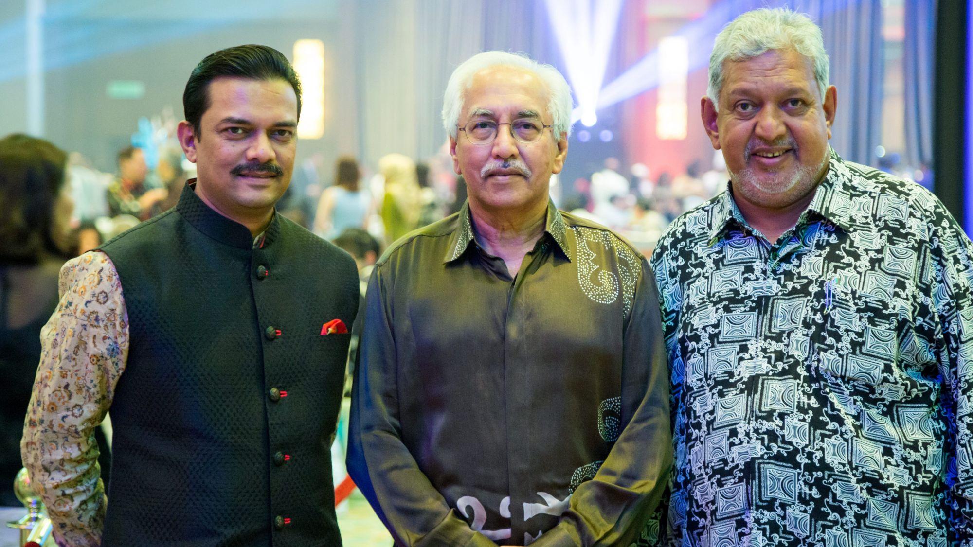 Abrar Anwar, Tan Sri Bashir Ahmad Abdul Majid and Dato' Seri Mirza Mohammad Taiyab