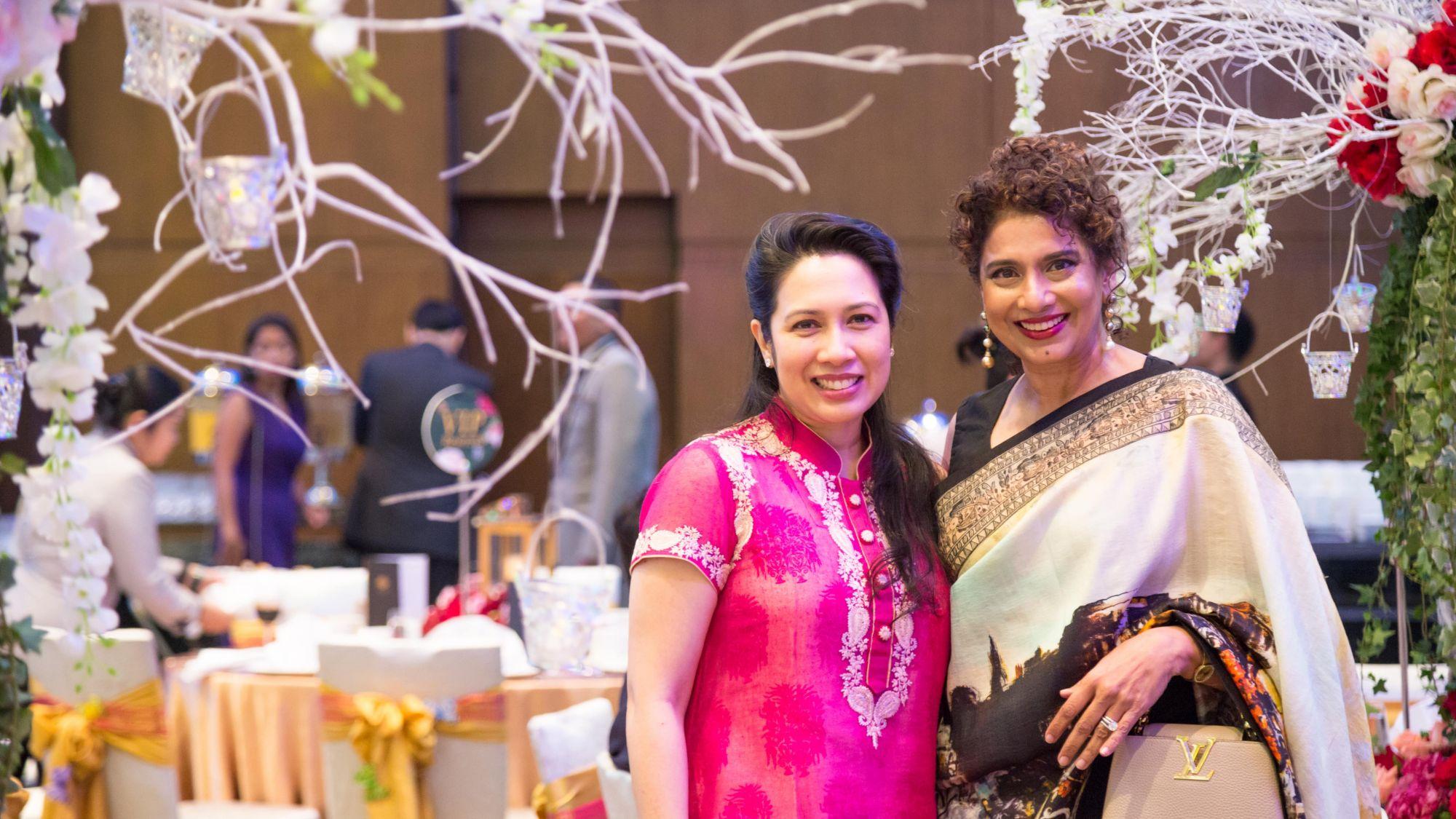 Datin Sunita Rajkumar and Ria Thomas