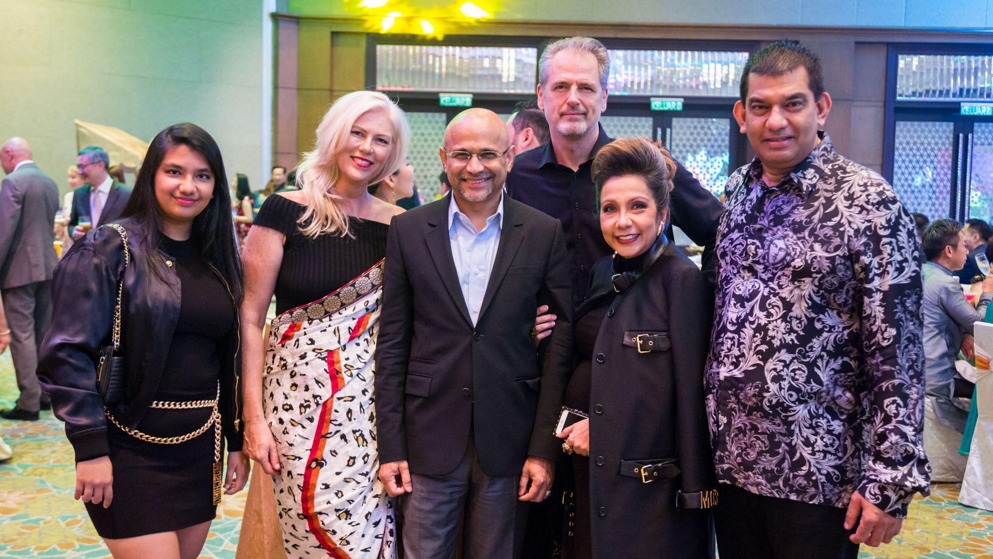 Allegra Abishegam, Christine Sterk, Dato' Sri Meer Sadik Habib, Henk Sterk and Datin Sri Chris and Dato' Sri Andrew Abishegam