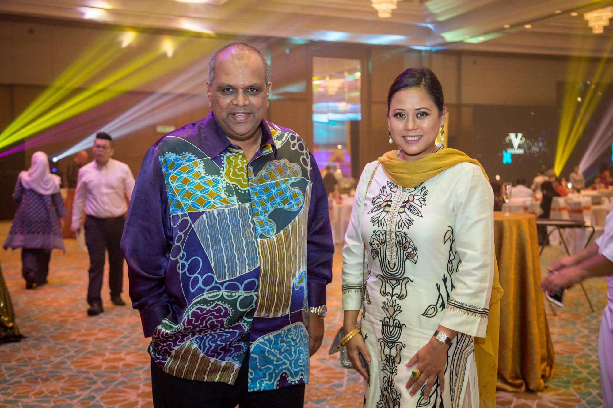 Dato' Mohd Redza Shah Abdul Wahid and Raja Teh Maimunah