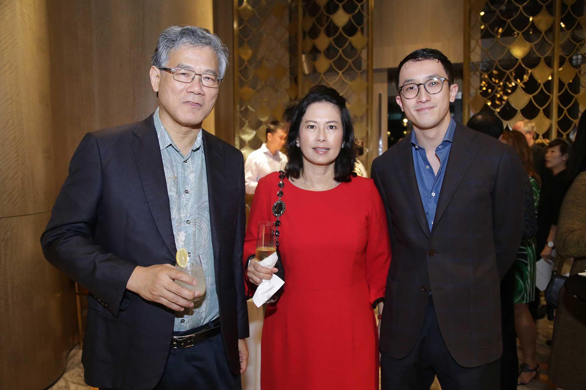 CJ Lim, Irene Lim and Din Tan