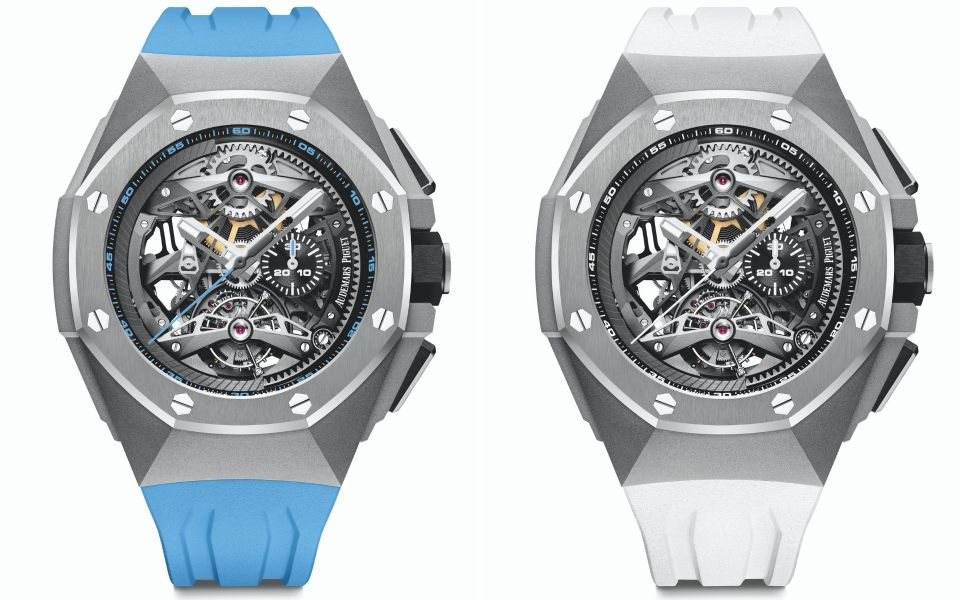 Blue and white straps (Photo: Audemars Piguet)