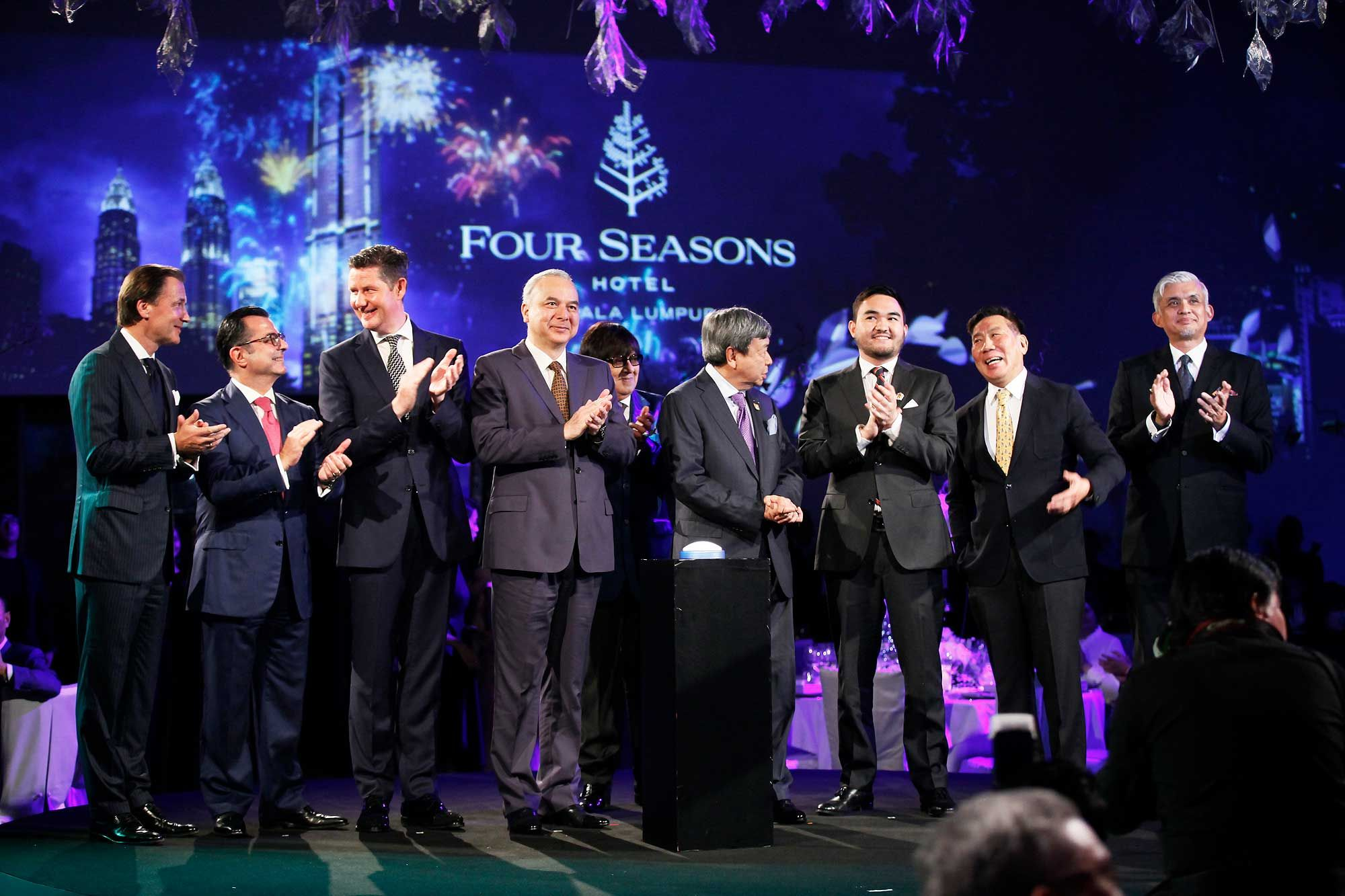 VVIPS officiating the grand opening of the Four Seasons Hotel Kuala Lumpur.