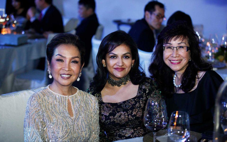 Dato' Seri Farah Khan, Datin Usha Nair and Florence Fang