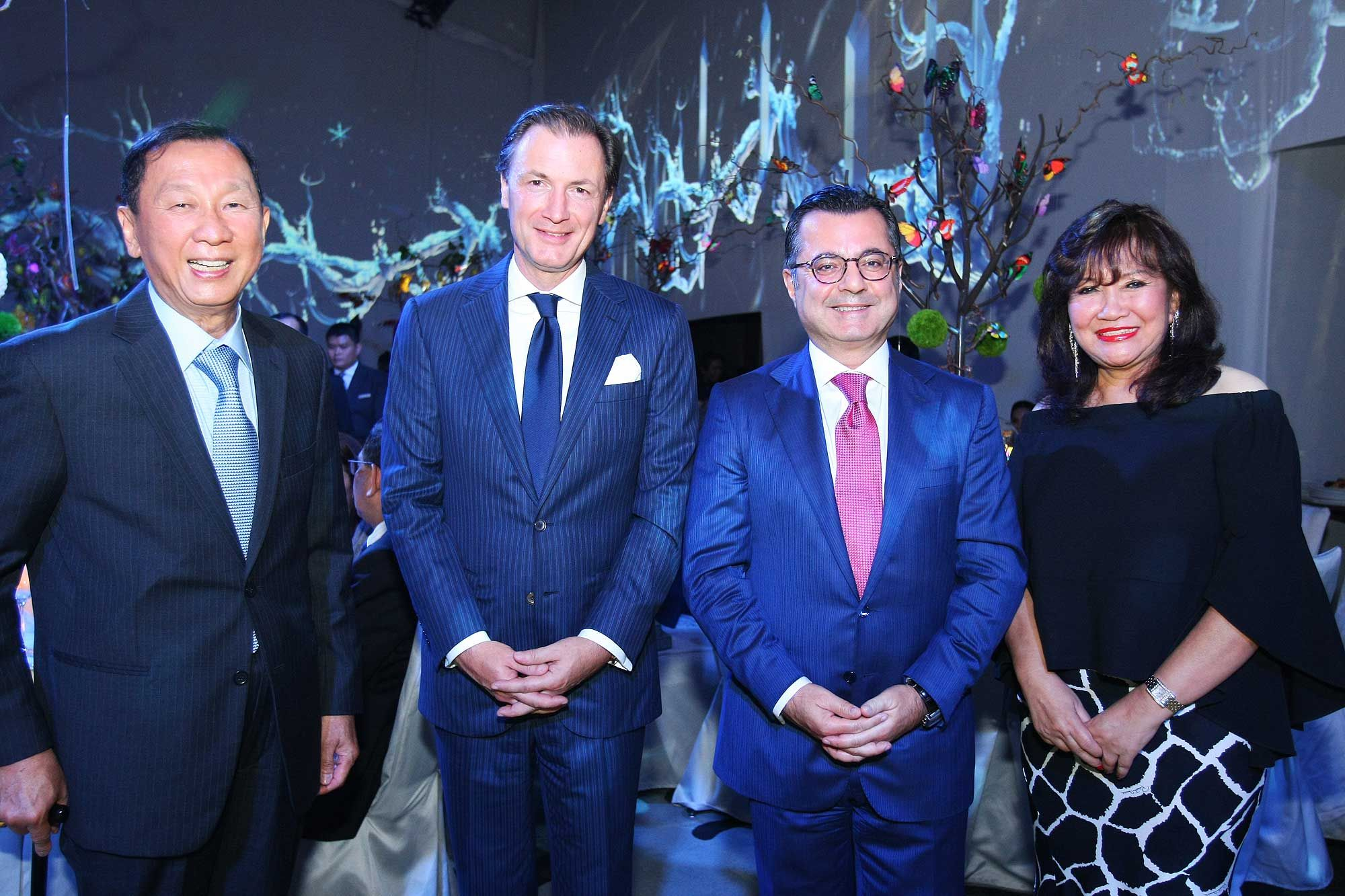 Tan Sri Danny Tan, Rainer Stampfer, Antoine Chawan and Dato' Rosemarie Wee