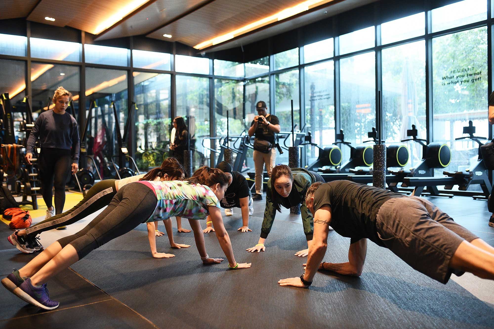 Participants working out at Babel Fit. Photo: Panasonic Beauty Malaysia.