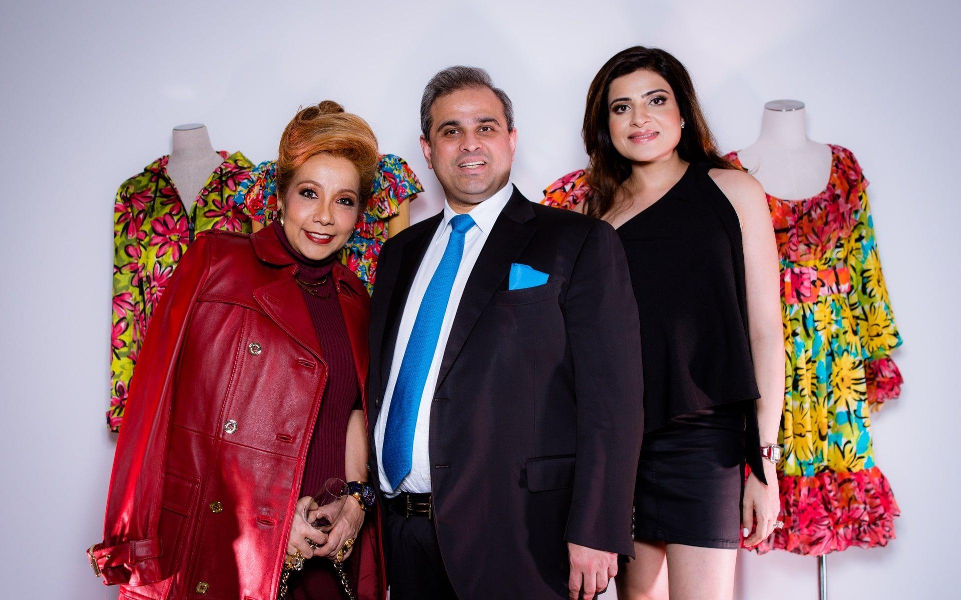 Datin Sri Chris Abishegam, Sharan Valiram and Roshan Valiram