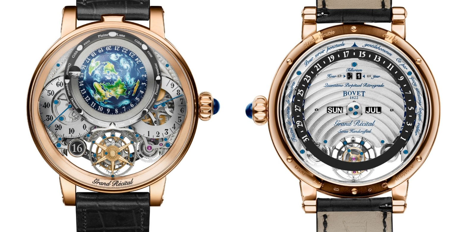 The front and back of Aiguille d'Or winner, Recital 22 Grand Recital (Photo: Bovet)