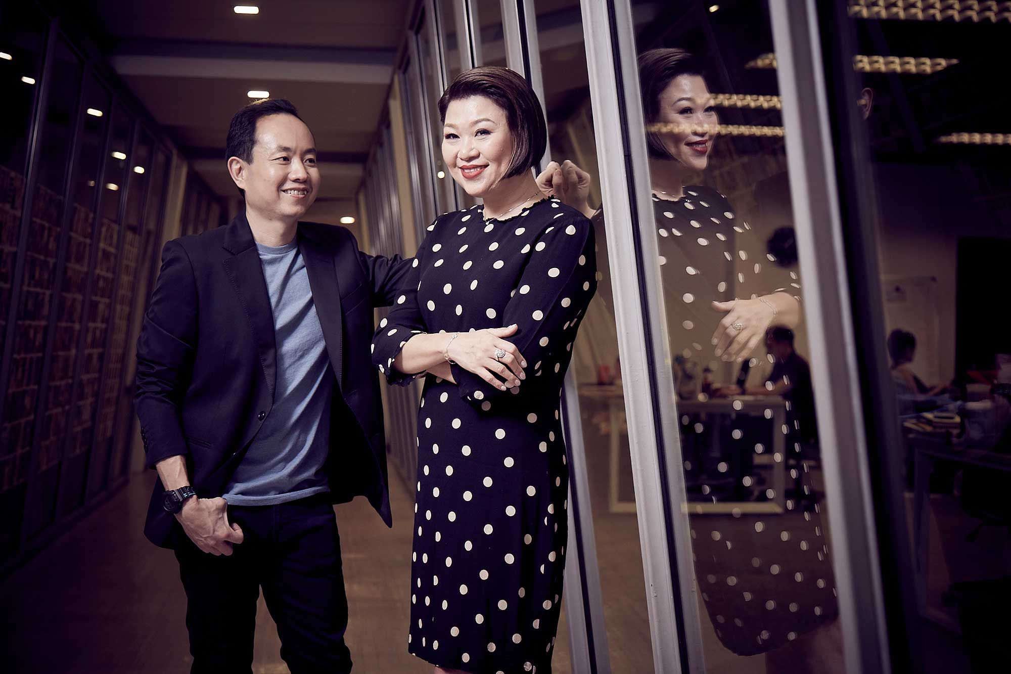 Jacqueline Ng and Andrew Yap of Book Xcess and the Big Bad Wolf Book Sale. Photo: CH Lei / Malaysia Tatler.