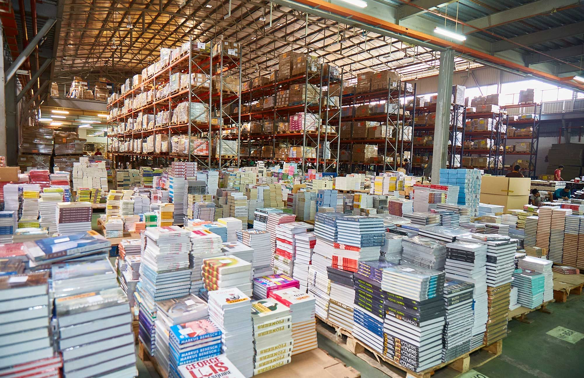 Book Xcess and the Big Bad Wolf Book Sale's sprawling storage facility. Photo: CH Lei / Malaysia Tatler.