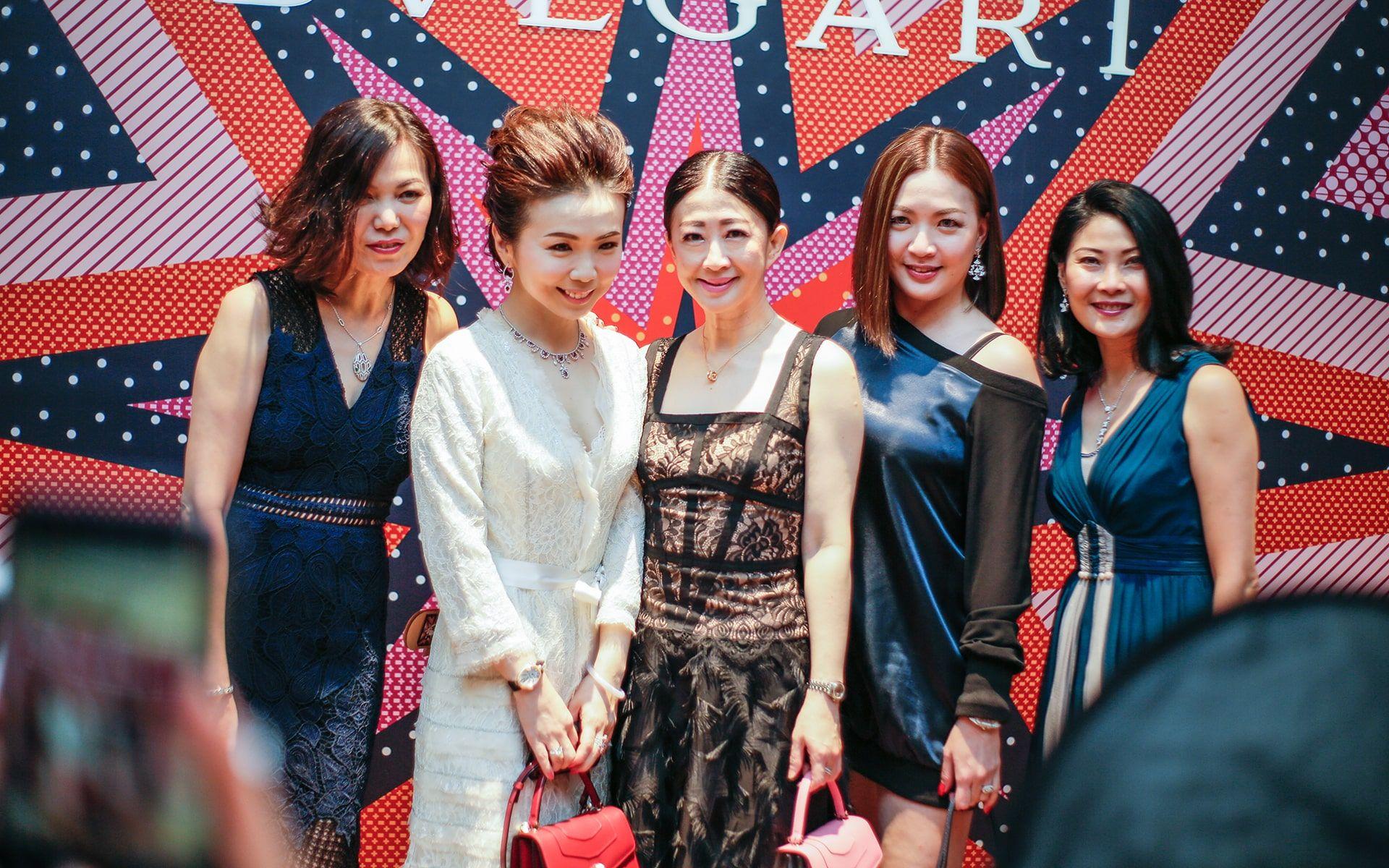 Jenny Cheah, Pauline Gan, Christine Cheah, Cherrie Chin and Renee Ng