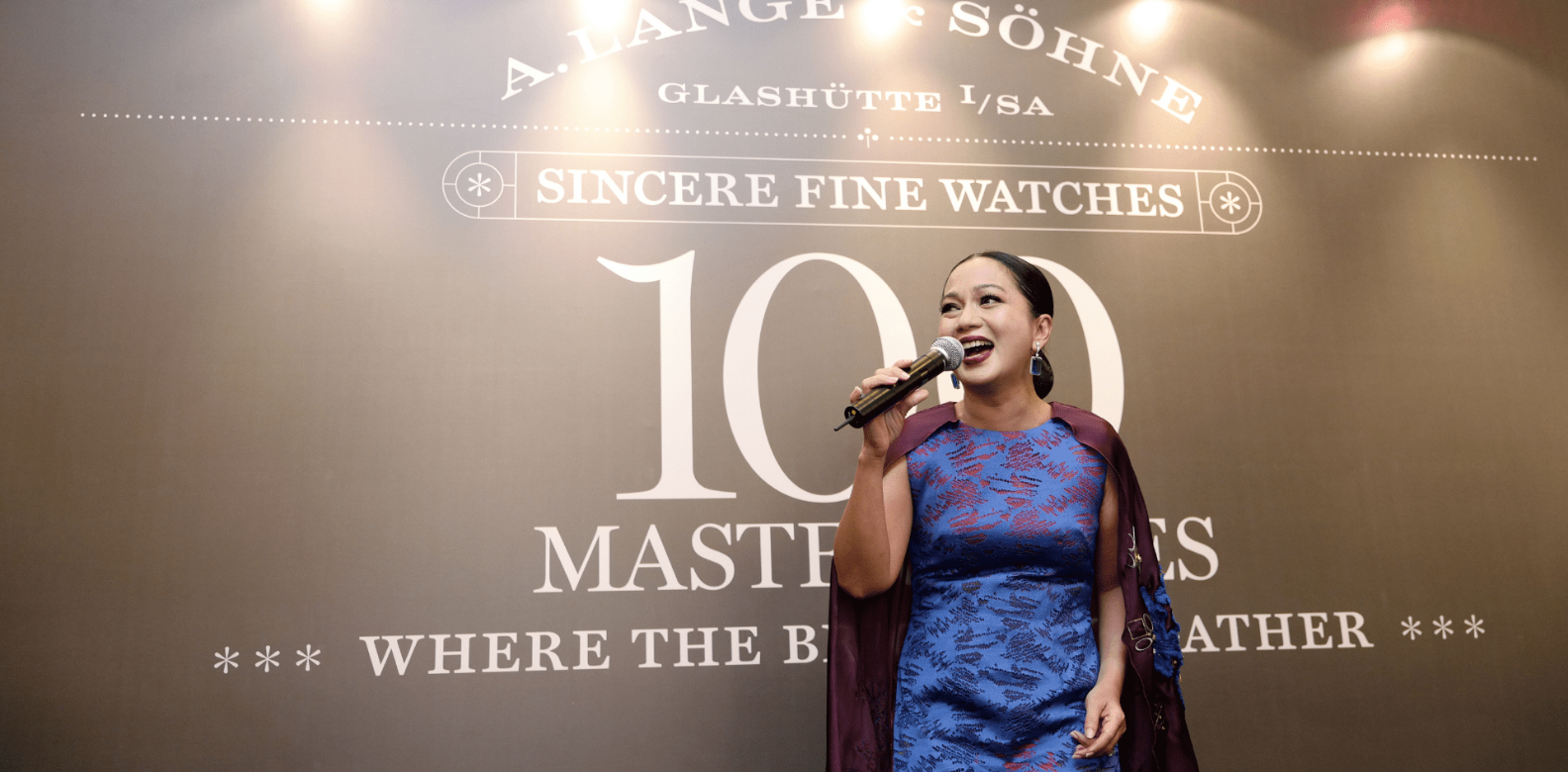 Sheila Majid performed at the exhibition opening (Photo: Sincere Fine Watches)