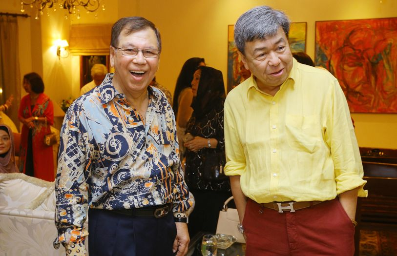 Tan Sri Razman Shah and HRH Sultan Sharafuddin Idris Shah